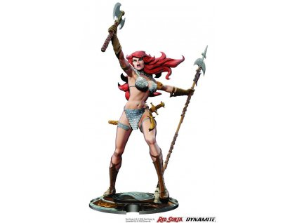 Red Sonja Statue Red Sonja 45th Anniversary by Frank Thorne 32 cm Dynamite Entertainment
