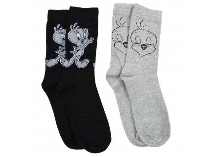 Looney Tunes Socks 2-Pack Tweety United Labels