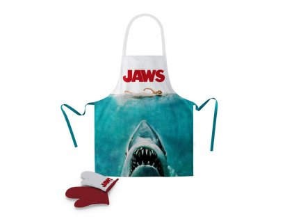 Jaws cooking apron with oven mitt Poster SD Toys