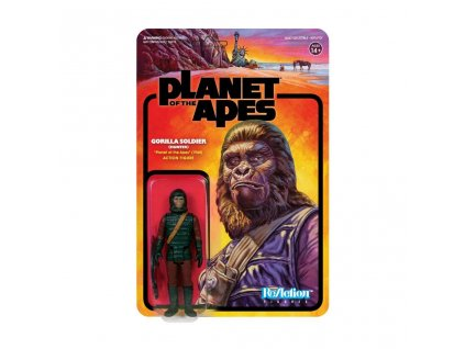Planet of the Apes ReAction Action Figure Gorilla Soldier (Hunter) 10 cm Super7
