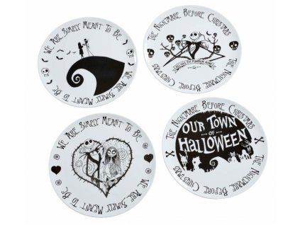 Nightmare before Christmas Plates 4-Pack We Are Simply Meant to Be Funko