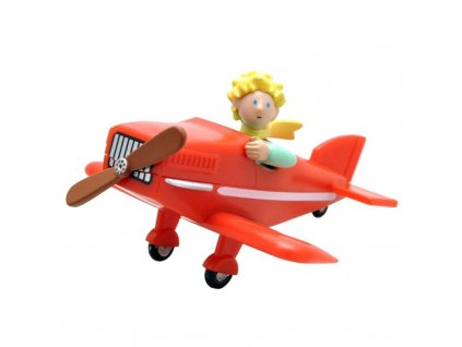 The Little Prince Figure The Little Prince in his plane 7 cm Plastoy