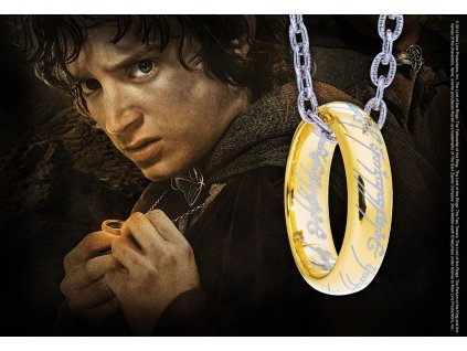 Lord of the Rings Ring with Chain The One Ring (Sterling Silver) Noble Collection