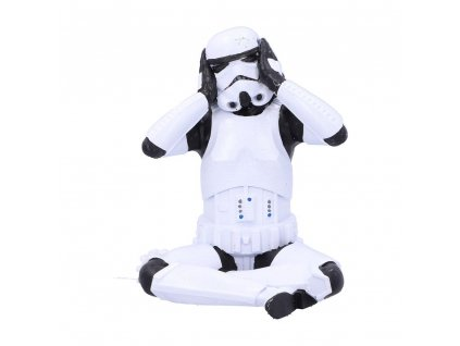 Original Stormtrooper Figure Hear No Evil Stormtrooper 10 cm Nemesis Now