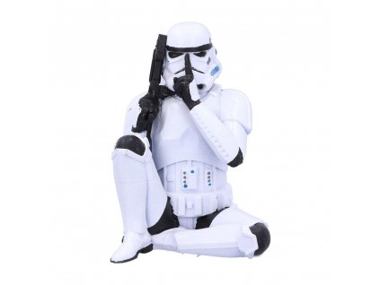 Original Stormtrooper Figure Speak No Evil Stormtrooper 10 cm Nemesis Now