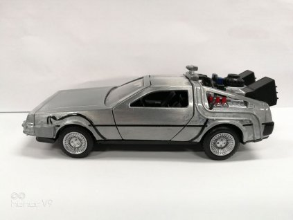 Back to the Future Hollywood Rides Diecast Model 1/32 DeLorean Time Machine Jada Toys