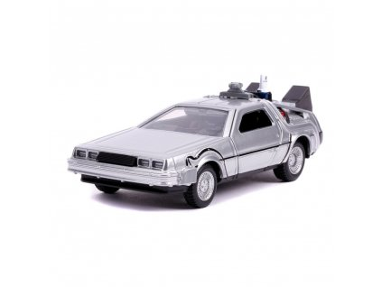 Back to the Future II Hollywood Rides Diecast Model 1/32 DeLorean Time Machine Jada Toys
