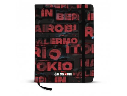 Money Heist Notebook A5 Cities Karactermania
