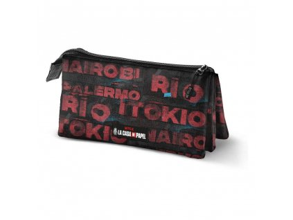 Money Heist Pencil Case Cities Triple Karactermania