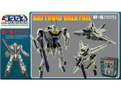 Macross Retro Transformable Collection Action Figure 1/100 VF-1J Focker Valkyrie 13 cm Toynami