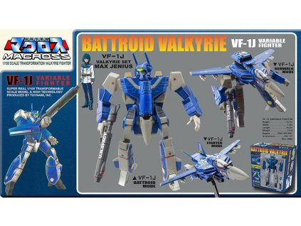 Macross Retro Transformable Collection Action Figure 1/100 VF-1J Max Valkyrie 13 cm Toynami