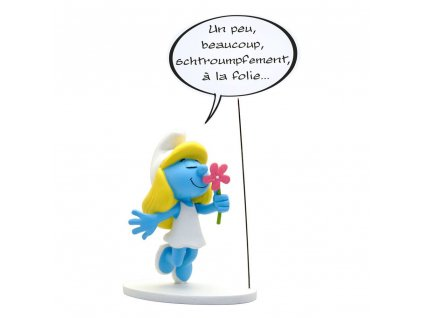 The Smurfs Collectoys Comics Speech Statue Grouchy Smurf 22 cm *French Version* Plastoy