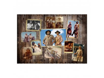 Bud Spencer & Terence Hill Jigsaw Puzzle Western Photo Wall (1000 pieces) Oakie Doakie Games