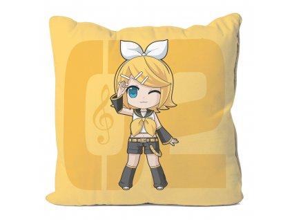 Vocaloid Pillow Case Kagamine Rin 50 x 50 cm POPbuddies