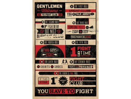 Fight Club Poster Pack Infographic 61 x 91 cm (5) Pyramid International