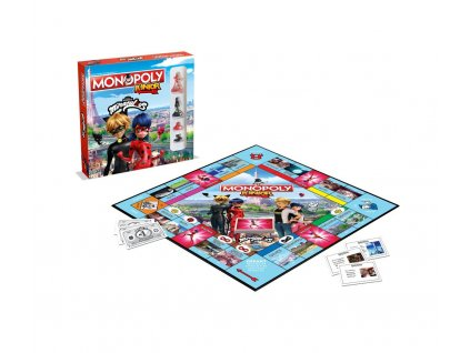 Miraculous: Tales of Ladybug & Cat Noir Board Game Monopoly Junior *French Version* Winning Moves