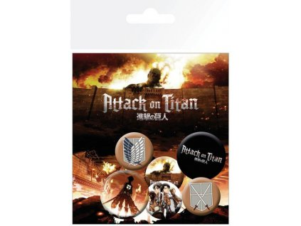Attack on Titan Pin Badges 6-Pack Characters GB eye