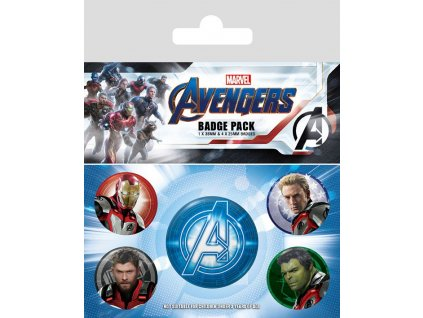 Avengers: Endgame Pin Badges 5-Pack Quantum Realm Suits Pyramid International