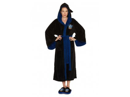 Harry Potter Ladies Fleece Bathrobe Ravenclaw Groovy