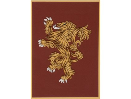 Game of Thrones Quilled Greeting Card House Lannister Insight Editions