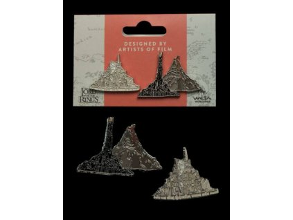 Lord of the Rings Collectors Pins 2-Pack Minas Tirith & Mt. Doom Weta Collectibles