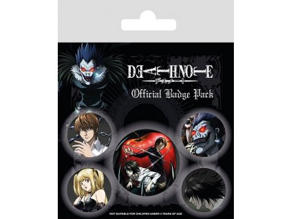 Death Note Pin Badges 5-Pack Characters Pyramid International