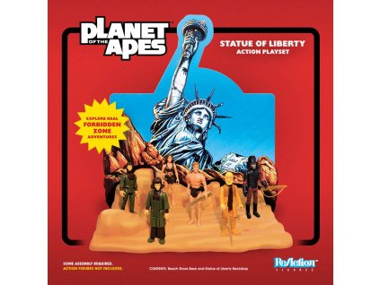 Planet of the Apes ReAction Playset Statue of Liberty SDCC 2018 Super7