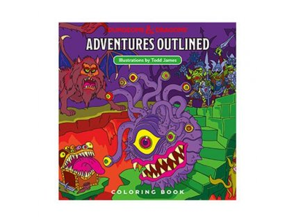 Dungeons & Dragons Adventures Outlined Coloring Book Wizards of the Coast