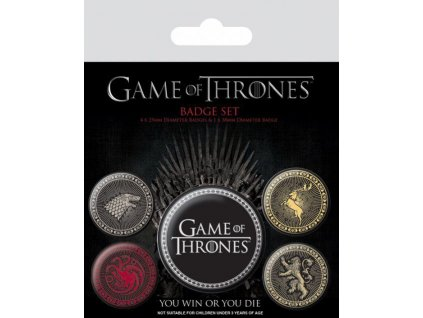 Game Of Thrones Pin Badges 5-Pack Great Houses Pyramid International