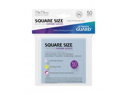 Ultimate Guard Supreme Sleeves for Board Game Cards Square (50) Ultimate Guard