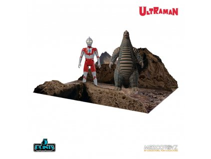 Ultraman 5 Points Action Figures Ultraman & Red King Boxed Set Mezco Toys