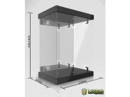 Master Light House Acrylic Display Case with Lighting for 1/6 Action Figures (black) Legend Studio