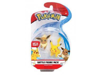 Pokémon Battle Mini Figures 2-Pack Eevee & Pikachu 5 cm BOTI