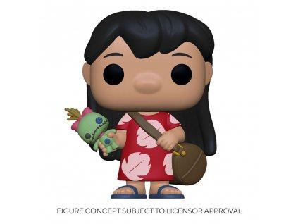 Lilo & Stitch POP! Disney Vinyl Figure Lilo w/Scrump 9 cm Funko