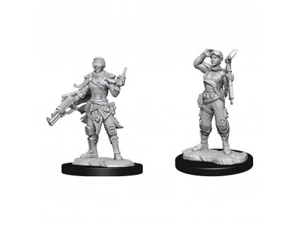 Starfinder Battles Deep Cuts Unpainted Miniatures Human Mechanic Case (2) Wizkids