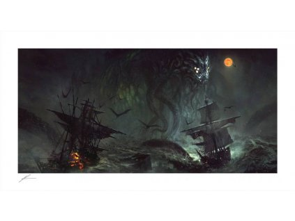 Cthulhu Art Print Cthulhu II by Richard Luong 46 x 84 cm - unframed Sideshow Collectibles