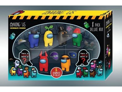 Among Us Mini Figures 8-pack Crewmates Deluxe Box PMI