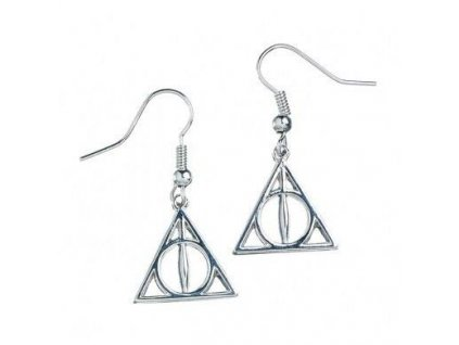 Harry Potter Deathly Hallows Earrings (silver plated) Carat Shop, The