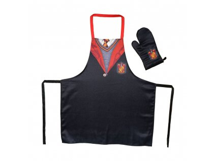 Harry Potter cooking apron with oven mitt Gryffindor School Uniform SD Toys