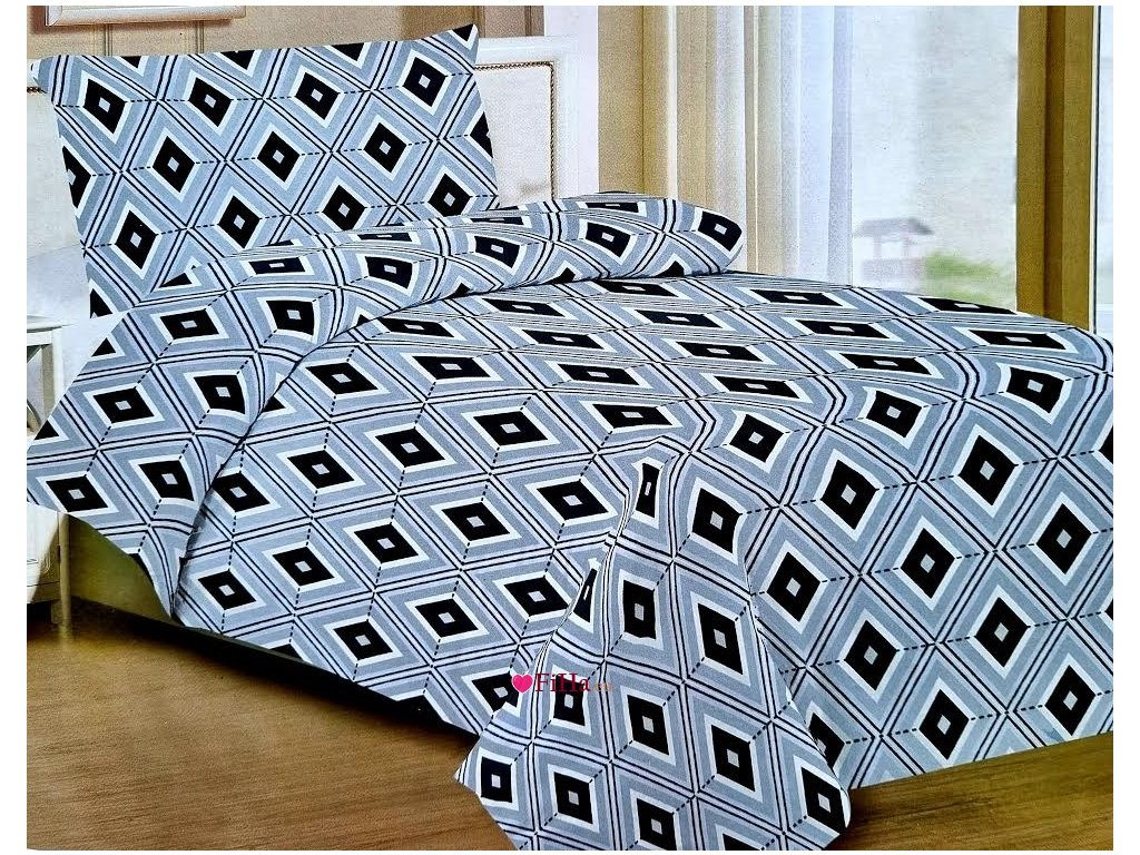 Obliečky Andoria Bavlna 70x90, 140x200 cm