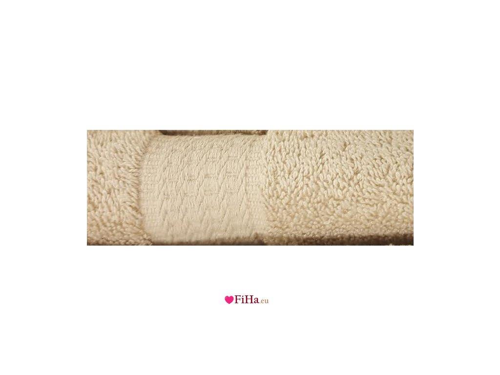 Uterák Froté Béžový Bavlna 500 gr. 100x50 cm