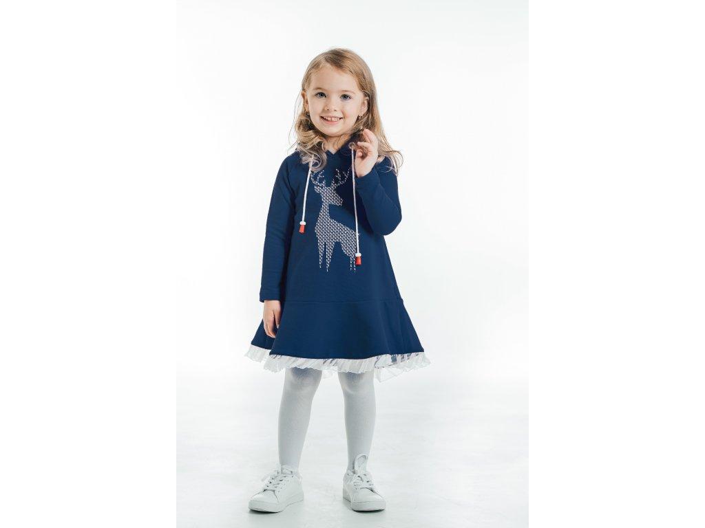šaty pre deti modré - dievčenské.