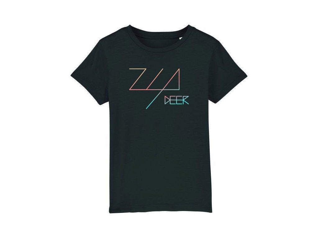 tričko čierne zia deer