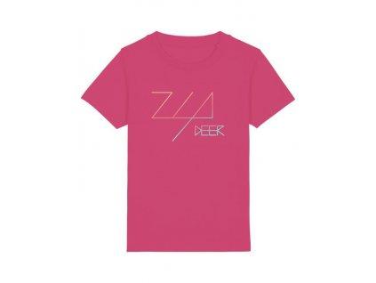 tričko ružové zia deer