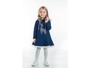 šaty pre deti modré - dievčenské - vianočné