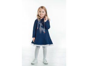 šaty pre deti modré - dievčenské