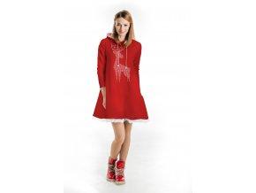 Šaty červené - vianočné