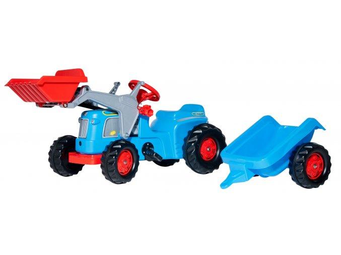 Rolly Toys šlapací traktor Classic s nakladačem a přívěsem