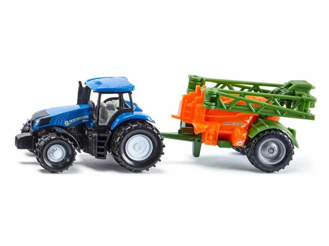 Siku Traktor New Holland s polním postřikovačem 1:87