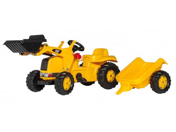 Rolly Toys šlapací traktor CAT s přívěsem a nakladačem